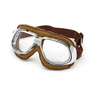 Vliegeniersbril | Bandit | Bruin/Chroom