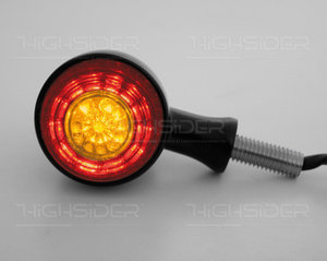 Combi Achter | LED | Bullet | Zwart
