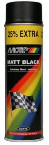Motip Spuitverf Mat Zwart 500ml