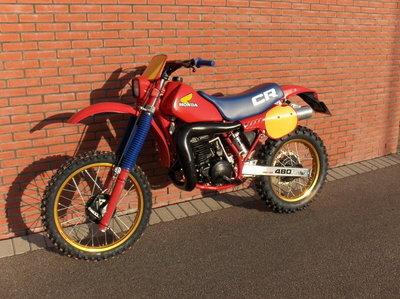 1983 Honda CR480 Enduro  (verkocht)