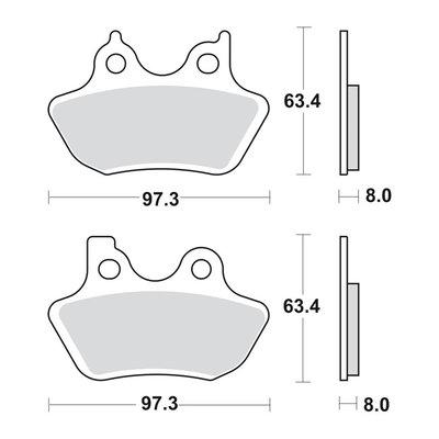 Remblokken | Voor & Achter | 00-03 XL | 00-07 B.T.