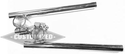 7/8 Inch (22mm) Cafe Racer Clip Ons 33mm Verchroomd