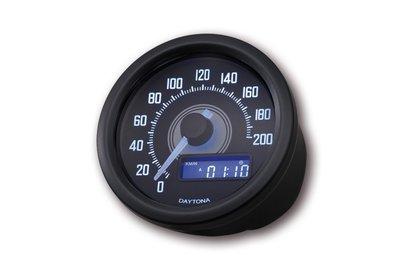 Kilometerteller | Daytona Velona 60 | Zwart