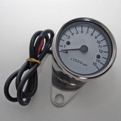 Toerenteller | Universeel 15000 RPM | Wit / RVS