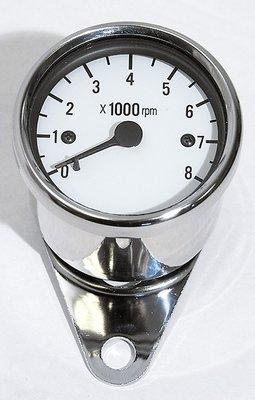 Toerenteller | Universeel 8000 RPM | Wit / RVS