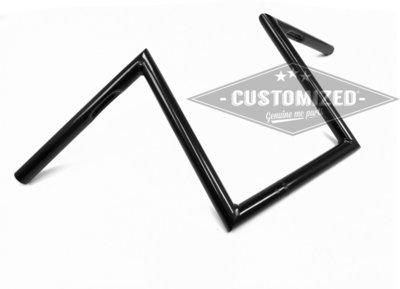 1 inch (25,4mm) Stuur Square 30cm Zwart voor Harley-Davidson )krassen)