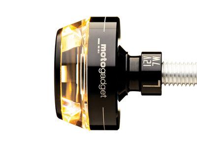 "RH Motogadget Bar End LED M Blaze Disc Indicator Turn Signal Black 1/"" or 7//8/"""