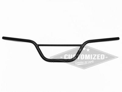 7/8 Inch (22mm) Universeel Stuur Scrambler 15cm Zwart